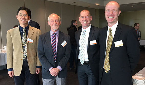 Curtin researchers, Professor Zheng Xiang Li, Professor Simon Wilde, Professor Steven Tingay and Dr Randall Wayth at the Thomson Reuters Citation and Innovation Awards in Melbourne