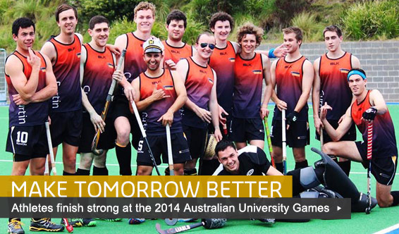 The 2014 Curtin Australian University Games men's hockey team