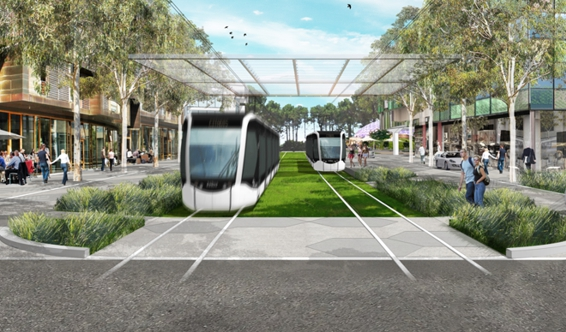 An artists impression of future Curtin campus