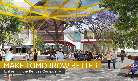 Artist's impression of Bentley Campus in the future