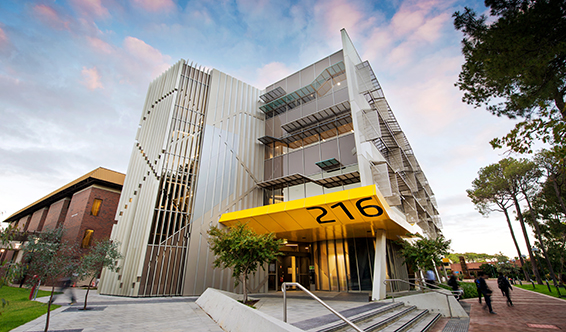 Building 216 located on Curtin University's Bentley Campus