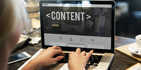 A laptop computer showing content
