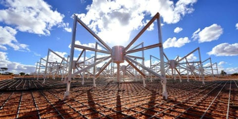 Dipole antennas of the Murchison Widefield Array MWA radio telescope in Mid West Western Australia.