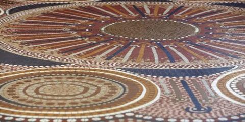 Indigenous mosaic artwork