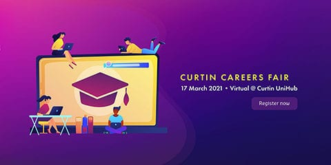 Curtin careers fair 2021 logo